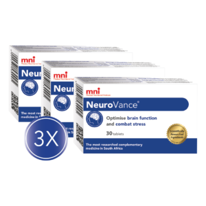 NeuroVance 30 tablets 3x Value Pack can optimise brain function and combat stress.