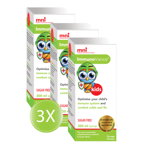 Boost your child's immune system and help defend against viruses and bacteria with ImmunoVance kids Syrup 3x Value Pack