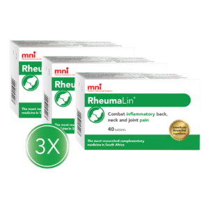 RheumaLin 40 tablet 3x value pack combats inflammatory back, neck and joint pain