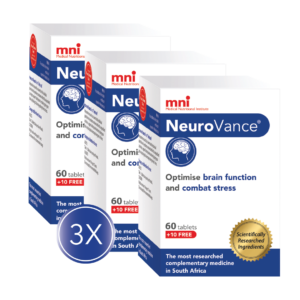 NeuroVance 3x Value Pack can optimise brain function and combat stress.