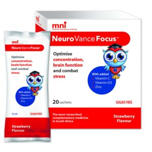 NeuroVance Focus optimises cognition and concentration, improves mood and intellectual function and enhances your immunity.