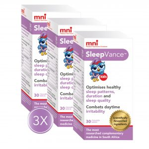 3x SleepVance Kids packs to optimise sleep patterns, duration, and sleep quality of your child