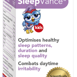 SleepVance KIDS optimises Sleep quality and duration, promotes healthy sleep patterns, and combats daytime irritability and inattention in your child.